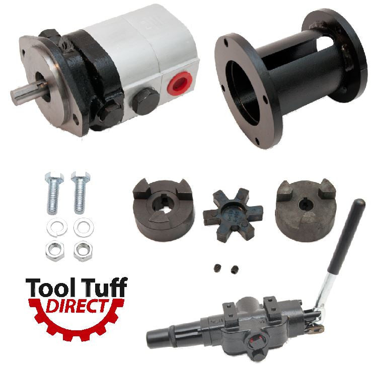 "Log Splitter Build Kit 22 GPM Pump, Mount Coupler & A7 Detent Valve Kit w/Bolts - For Replacement or ""Build it Yourself"""