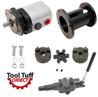 Log Splitter Build Kit 22 GPM Pump, Mount Coupler & A7 Detent Valve Kit w/Bolts - For Replacement or