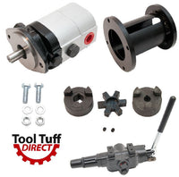Log Splitter Build Kit: 28 GPM Pump, Mount, Coupler & A7 Detent Valve Kit w/ Bolts