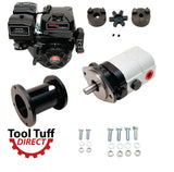 Tool Tuff Log Splitter Build Kit - 15 hp Electric-Start Engine, 28 GPM Pump, LO100 Coupler, Hardware