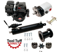Tool Tuff Log Splitter Build Kit - 15 hp Electric-Start Engine, Mounting Bracket, 22 GPM Pump, Auto-Return Valve, LO100 Coupler, 4.5