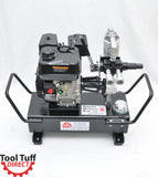 ToolTuff 5gal, 7gpm, 900psi Gas-Powered Hydraulic Power Unit, Mobile Power Pack Station - Power Implements, Dump Trailers, Etc