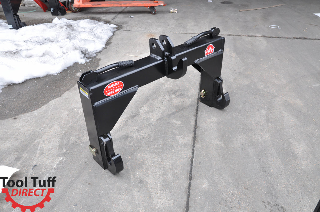 CAT 2 (Category 2) 3-Point Tractor Quick Hitch w/Set of Bushings