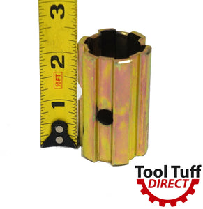 "PTO Sleeve Increaser (2.25"") Adaptor, 1-1/8"" x 6 Spline Female End, 1-3/8"" x 6 Spline Male"