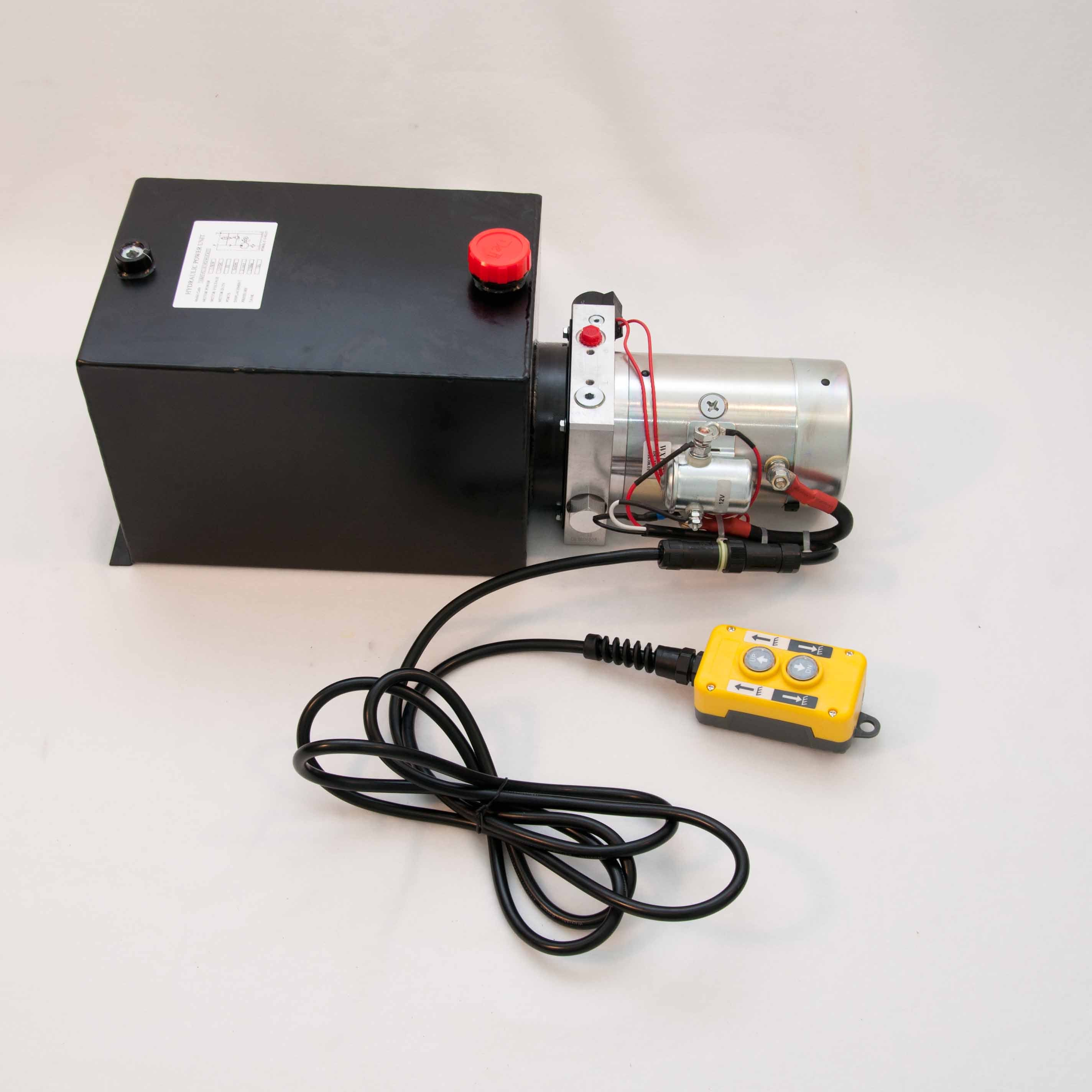 Tool Tuff Single Acting 12 Volt Dc Electro Hydraulic Power Unit W Remote Suitable For Dump Or Tipper Trailer