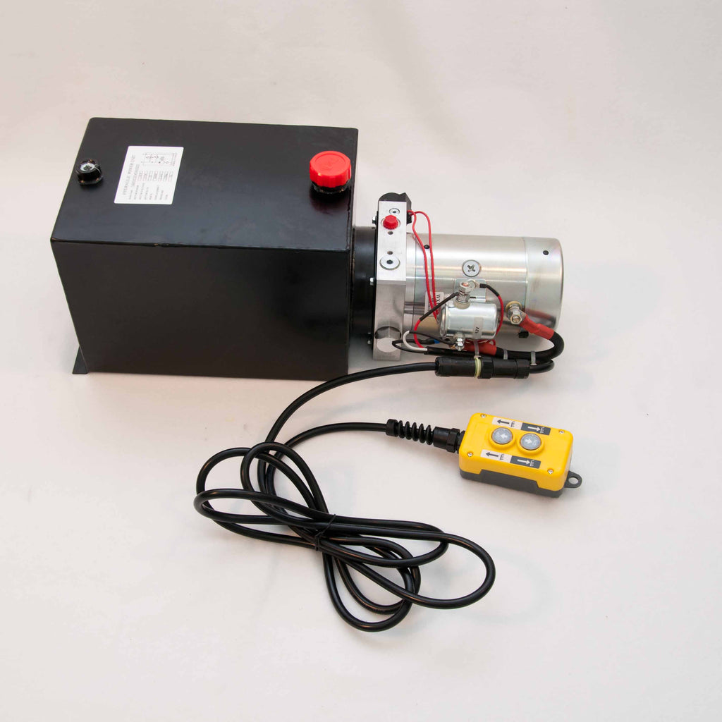 Tool-Tuff Single Acting 12 Volt DC Electro Hydraulic Power Unit w/Remote, Suitable for Dump or Tipper Trailer