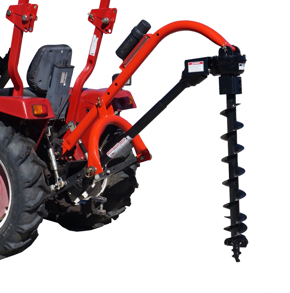 Tool Tuff Pole-Star 650 Tractor-Mounted 3-Pt Post Hole Digger W/Optional Auger Combos - Fits all Category 1 Tractors