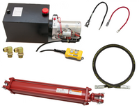 Hydraulic Dump Trailer Build Kit: Power Unit, Hose, Choice of Tie Rod Cylinder