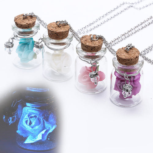 Romantic Glass Encased luminous Flower Pendant Necklace - FREE for a limited time