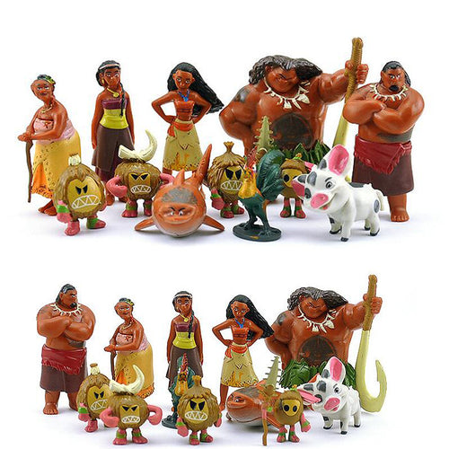 12pcs/lot Moana Toys- Kids Action Figurines