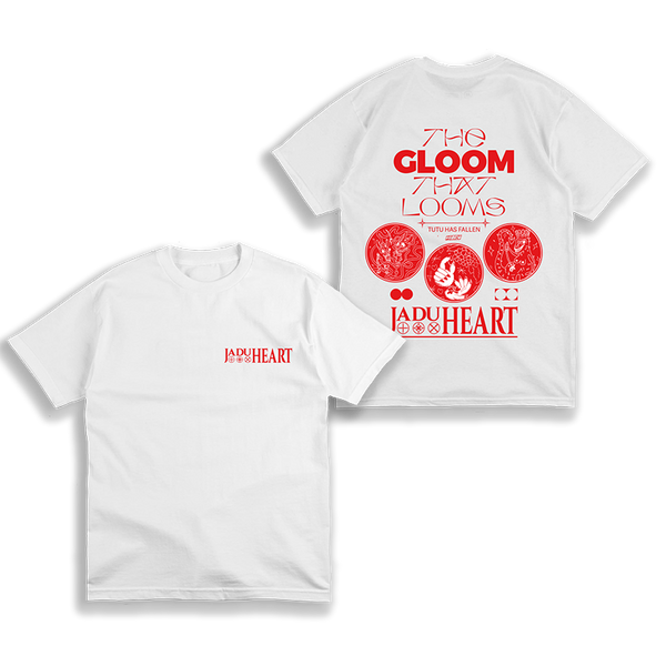 THE GLOOM THAT LOOMS WHITE T-SHIRT