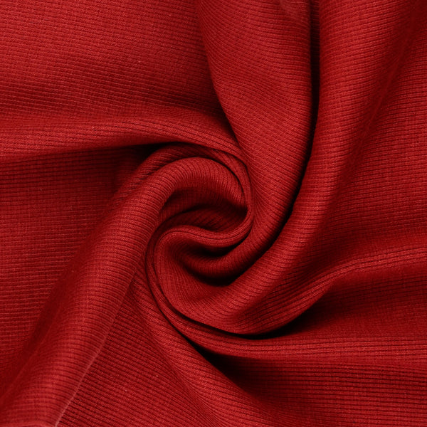 Tubular Jersey Ribbing Fabric 290 gsm - DEEP RED