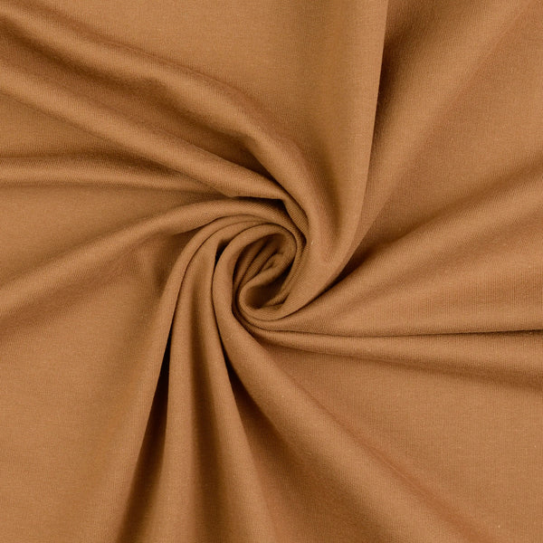 French Terry / Stretch Sweat Fabric, Tan Brushed Back