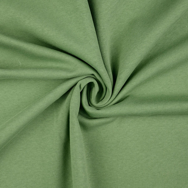 French Terry / Stretch Sweat Fabric,  Sage Green Brushed Back