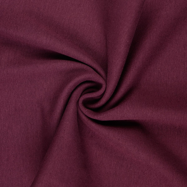 French Terry / Stretch Sweat Fabric, Purple Brushed Back