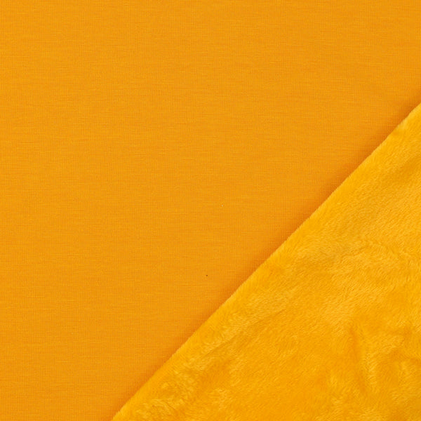 Alpine Fleece Fabric, Mustard Yellow
