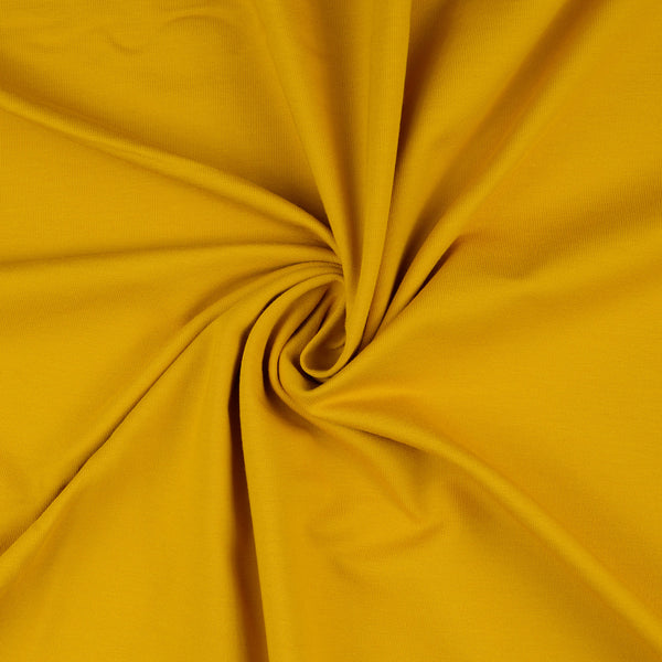 French Terry Fabric, Mustard Loop Back