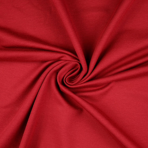 French Terry Fabric, Deep Red Loop Back