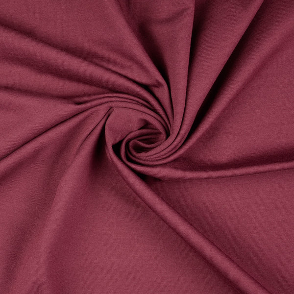 French Terry Fabric, Burgundy Loop Back