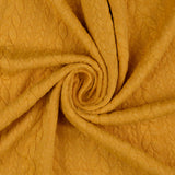 Cable Knit Jersey Fabric - MUSTARD