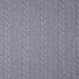 Cable Knit Jersey Fabric - BLUE JEANS