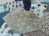 "Mixed Canvas Fabric Bundle. 10 Pieces - Each 10"" (25 cm) Square - Bob Bob Bobbin - All Things Fabric"