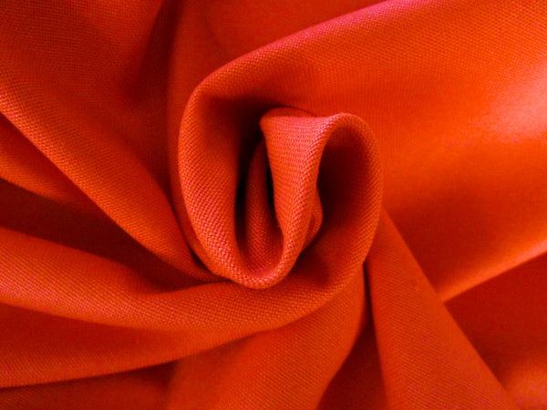 100% Cotton Canvas Fabric - ORANGE 40 cm Remnant