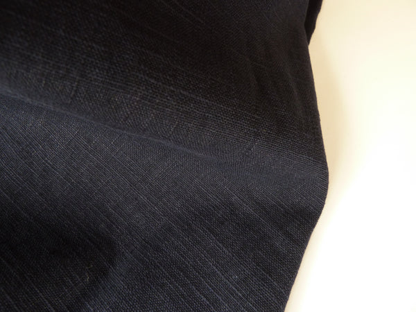 100% Linen Fabric, Navy Blue Enzyme Washed Linen, Dress Fabric, 140 cm wide - Bob Bob Bobbin - All Things Fabric