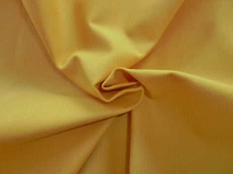 Plain Mustard Canvas Fabric, Solid Colour 100% Cotton, For Soft Furnishing, Craft & Dressmaking - Bob Bob Bobbin - All Things Fabric