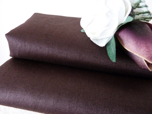 Dark Brown Linen Dress Fabric,  Linen / Cotton Sateen Blend - Bob Bob Bobbin - All Things Fabric