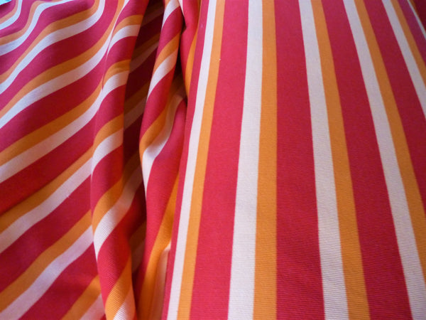 Sweatshirt Fabric - Red & Orange Stripe