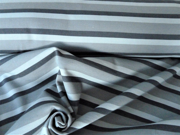 Sweatshirt Fabric - Black & Grey Stripe