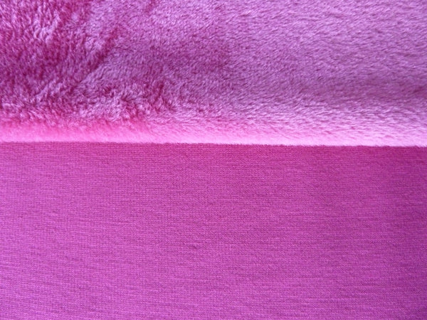 Alpine Fleece Jersey Fabric, Fuchsia Pink