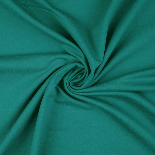 French Terry Fabric, Teal Loop Back