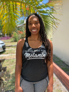 Thank God for Melanin Unisex Tank Top