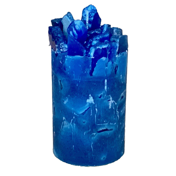 Blue Scented Pillar Candle (Blue Moon)