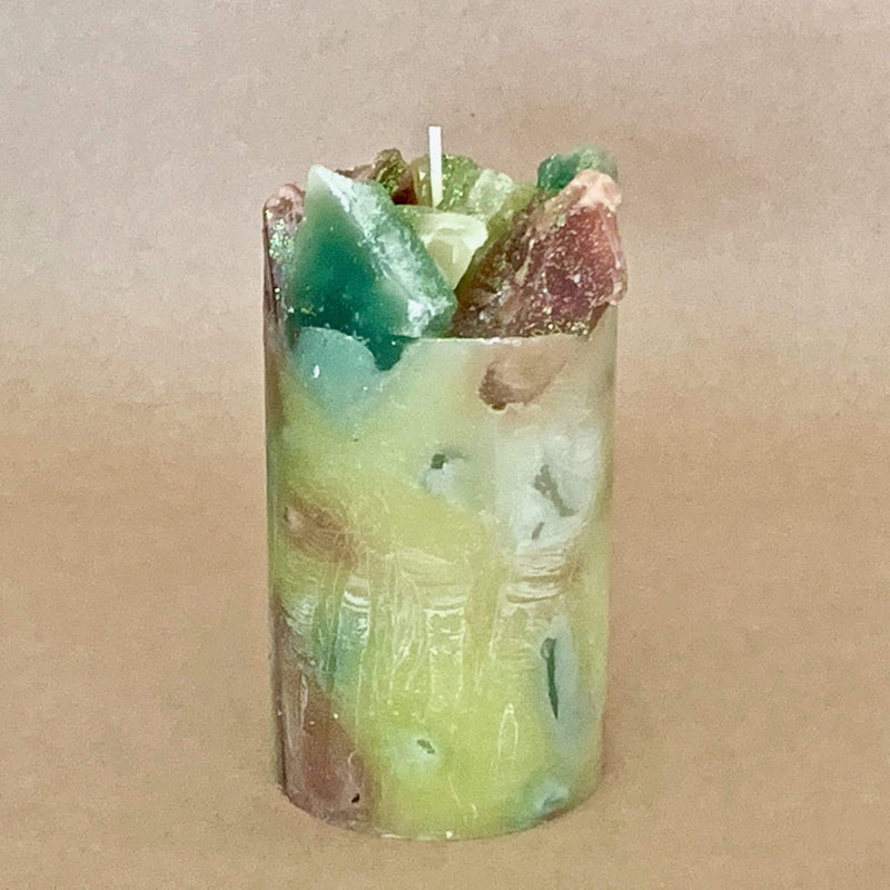 Gingered Oak Verbena and Bamboo Scented Pillar Candle