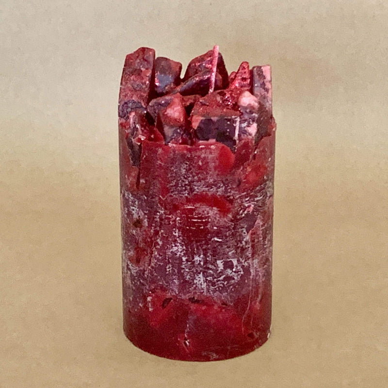 Cranberry Craze Cranberry and Rose Scented Pillar Candle