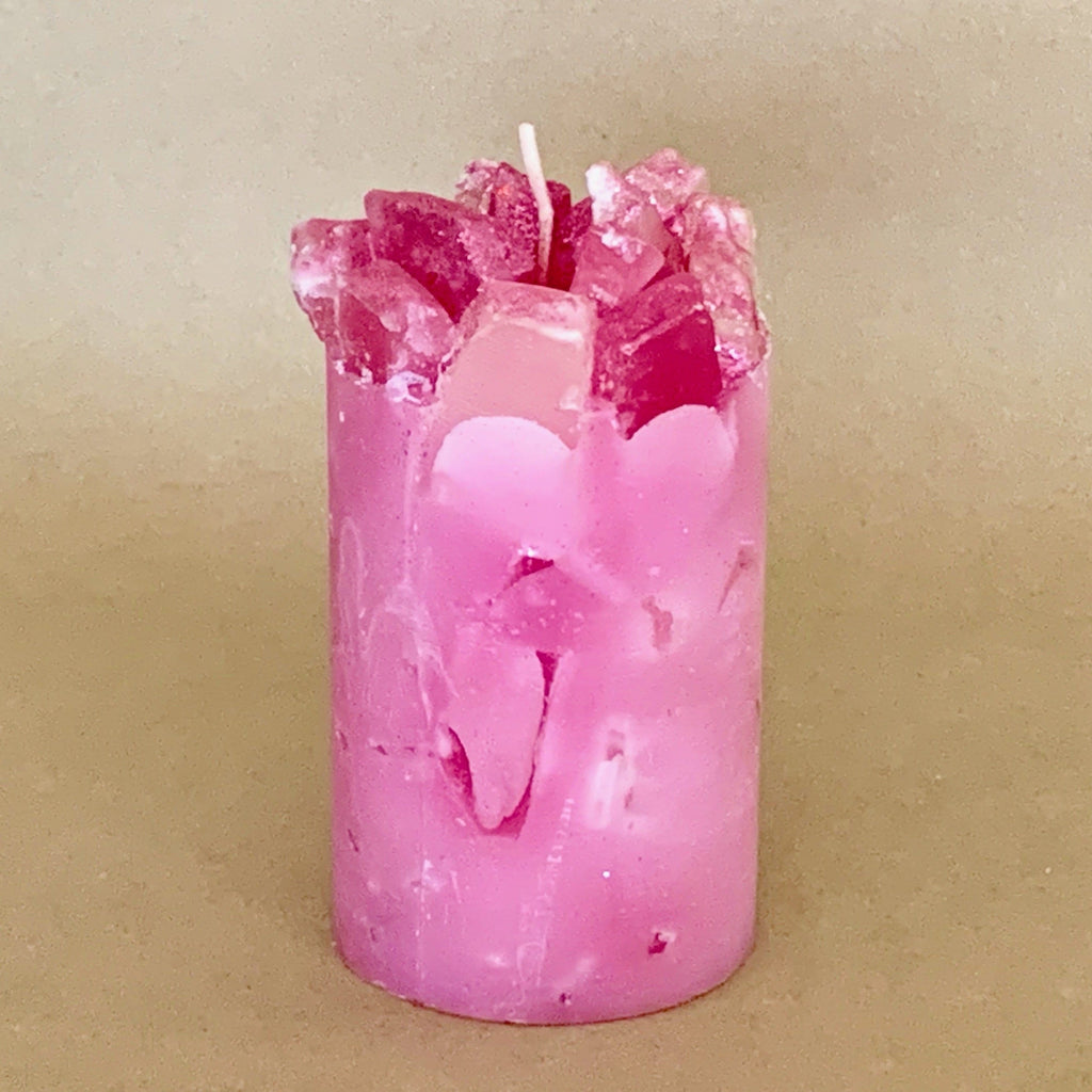 Think Pink Sweet Pea Scented Pillar Candle