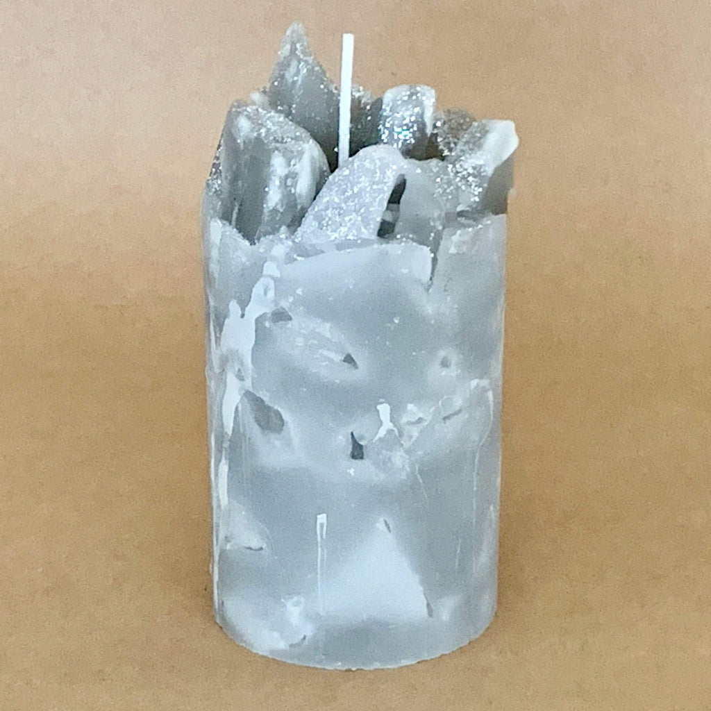 Winter Storm Rain and Ocean Scented Pillar Candle