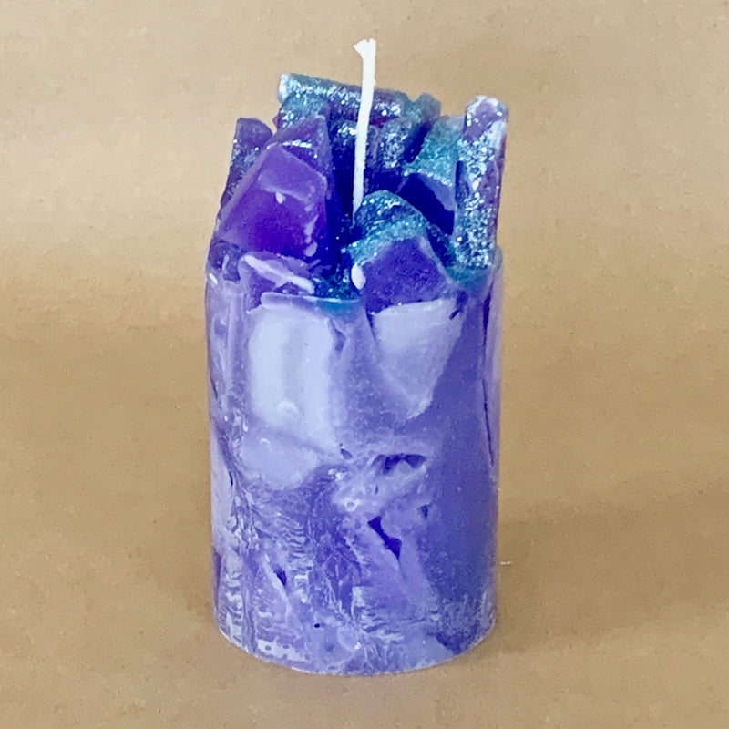 Prisms Lavender and Lemon Scented Pillar Candle
