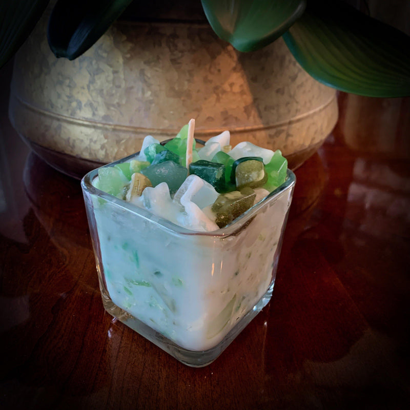 Green Soy Scented Candle (Heavenly Bamboo) - Carole's Candles