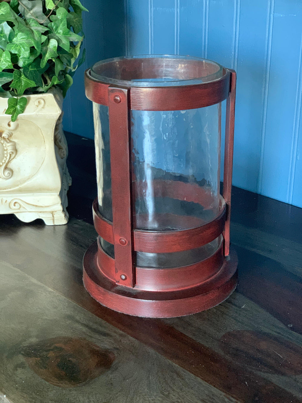 Rod Iron hurricane Candle Holder