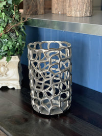 Decorative Metal Hurricane Candle Holder - Carole's Candles