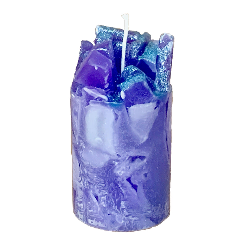 Periwinkle Scented Pillar Candle (Prisms)