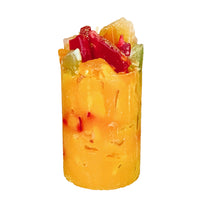 Orange Scented Pillar Candle (Tropical Treasure)