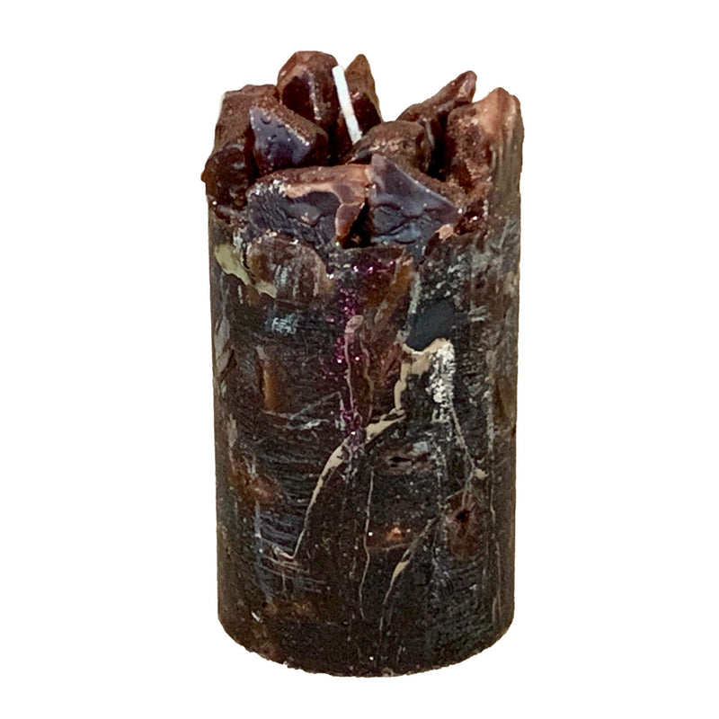 Brown Scented Pillar Candle (Wake Me Up)