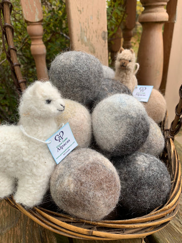 Alpaca Dryer Balls - Package of Three - Green Gable Alpacas