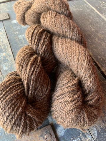 100% alpaca yarn, made in PEI