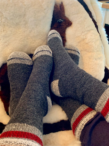Alpaca Socks - Storm Socks - Heavy - Green Gable Alpacas